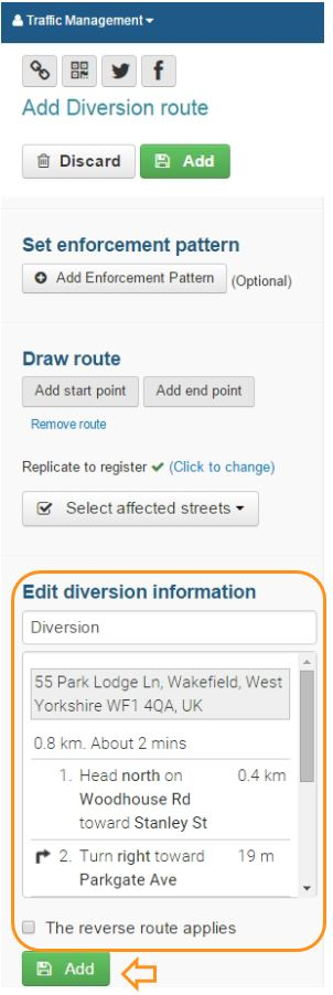diversion information