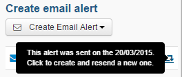 Create email alert-alertwassent